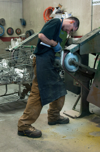 Casting grinding process