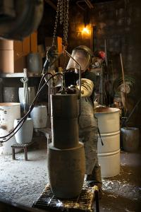 Metal prep rotary degassing