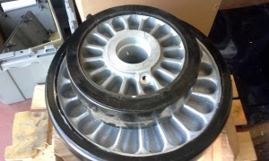 Non-ferrous casting painted machined assembled