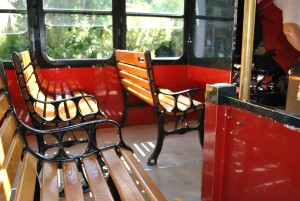 Trolley bench casting painted