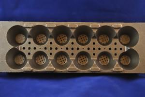 Bronze die egg carton