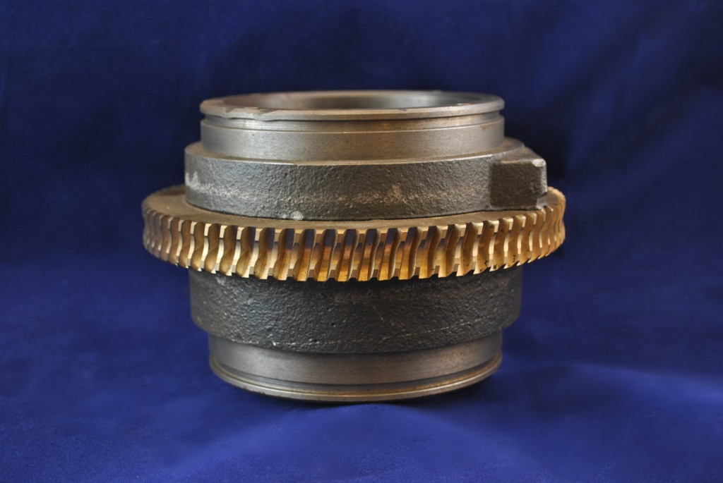 cast bronze on iron gear