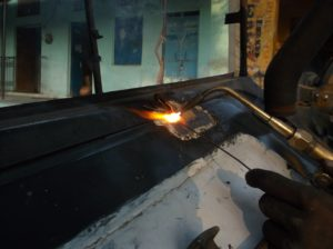 metal foundry work weld